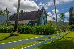 Igreja do hui'ia de Wai'oli, hanalei, kauai, Havaí Fotografia de Stock