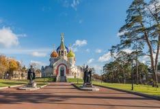 A igreja do Igor santamente de Chernigov em Novo-Peredelkino Fotos de Stock Royalty Free