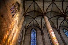 A igreja do Jacobins em Toulouse foto de stock