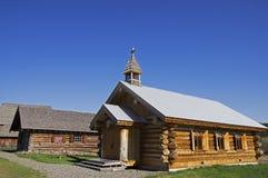 Igreja do log do vintage Fotos de Stock Royalty Free