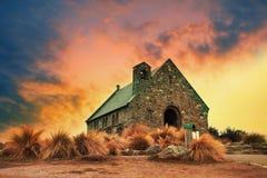 Igreja do marco importante do bom pastor e do destin de viagem foto de stock royalty free