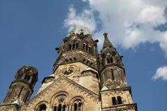 A igreja do memorial de Kaiser Wilhelm Foto de Stock