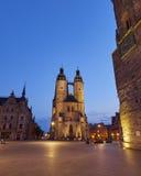 Igreja do mercado de nossa cara senhora em Halle, Alemanha Foto de Stock Royalty Free