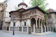 Igreja do monastério de Biserica Mănăstirii Stavropoleos Stavropoleos, Bucarest fotografia de stock royalty free