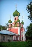 A igreja do monastério de Sretensky foto de stock