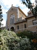 Igreja do monastério do trapista de Latrun Fotos de Stock Royalty Free