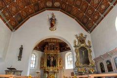 A igreja do nascimento do eli-Ranft do ¼ de Flà e lugar da vida do eremita de Saint imagem de stock