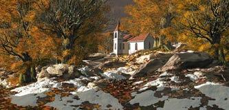 Igreja do país ilustração do vetor