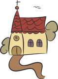 Igreja do país ilustração royalty free