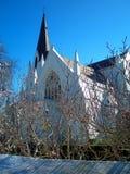 Igreja do país no inverno imagens de stock