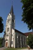 Igreja do porto-Lesney em Franche-Comté, França Fotografia de Stock