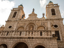 A igreja do primeiro milagre de Jesus Pares por todo o lado no wo Imagens de Stock Royalty Free