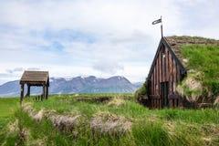 Igreja do relvado de Grafarkirkja, Islândia Fotos de Stock