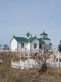 Igreja do russo de Alaska Fotos de Stock Royalty Free