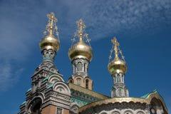 Igreja do russo de Darmstadt Fotografia de Stock