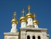 Igreja do russo em Genebra, Switzerland Fotografia de Stock