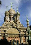 Igreja do russo em Sanremo foto de stock