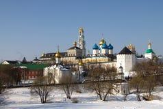 Igreja do russo no tempo de inverno Fotografia de Stock Royalty Free