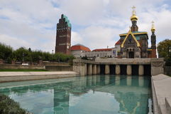 A igreja do russo, St Mary Magdalene Chapel fotos de stock