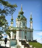 Igreja do ` s de St Andrew em Kiev Imagem de Stock