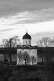 Igreja do ` s de St George, Staraya Ladoga, Rússia Imagem de Stock