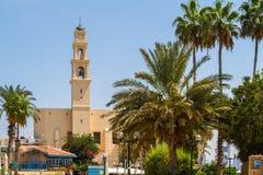Igreja do ` s de St Peter, Jaffa velho no telefone Aviv Yaffo, Israel foto de stock