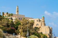 Igreja do ` s de St Peter, mesquita do al-Bahr em Jaffa velho, Israel fotos de stock