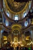 Igreja do ` s de St Peter ou interior de Peterskirche 1733, Viena, Aus Fotos de Stock Royalty Free