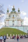 Igreja do `s do St Andrew, Kiev fotografia de stock