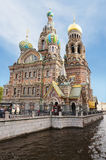 Igreja do salvador do sangue derramado St Petersburg Rússia Foto de Stock
