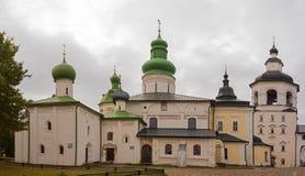 Igreja do salvador na igreja ortodoxa de Belozersk, região de Vologda, Rússia imagens de stock royalty free