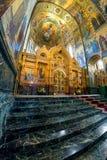 Igreja do salvador no sangue derramado Caso ou kio central do ícone Fotos de Stock Royalty Free