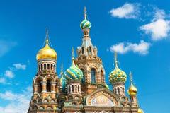 Igreja do salvador no sangue derramado em St Petersburg, Rússia Fotografia de Stock