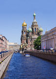 Igreja do salvador no sangue derramado em St Petersburg, Rússia Imagens de Stock Royalty Free