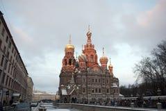 A igreja do salvador no sangue derramado em St Petersburg, Rússia Imagens de Stock
