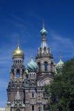 A igreja do salvador no sangue derramado em St Petersburg, Rússia Foto de Stock