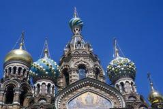 A igreja do salvador no sangue derramado em St Petersburg, Rússia Fotografia de Stock Royalty Free