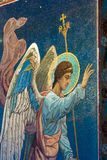 Igreja do salvador no sangue derramado Imagem do anjo Imagem de Stock