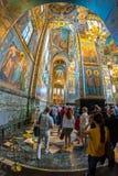 Igreja do salvador no sangue derramado interior Foto de Stock