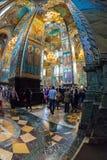 Igreja do salvador no sangue derramado interior Foto de Stock Royalty Free
