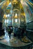 Igreja do salvador no sangue derramado interior Imagem de Stock Royalty Free