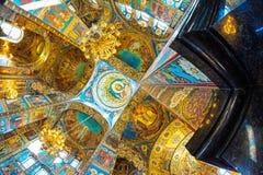 Igreja do salvador no sangue derramado os arcos do cathed Fotos de Stock