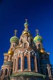 Igreja do salvador no sangue derramado, Rússia Fotografia de Stock