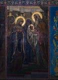 Igreja do salvador no sangue derramado Raio de sol refletido no Imagens de Stock Royalty Free