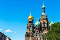 Igreja do salvador no sangue derramado, St Petersburg, Rússia fotos de stock royalty free