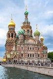 Igreja do salvador no sangue derramado, St Petersburg, Rússia imagem de stock