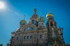 A igreja do salvador no sangue derramado, St Petersburg, Rússia imagem de stock