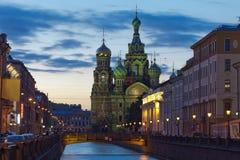 Igreja do salvador no sangue derramado. St Petersburg, Rússia Imagens de Stock