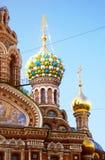 Igreja do salvador no sangue derramado St Petersburg, Rússia Imagens de Stock Royalty Free