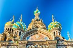 Igreja do salvador no sangue derramado, St Petersburg, Rússia Imagens de Stock